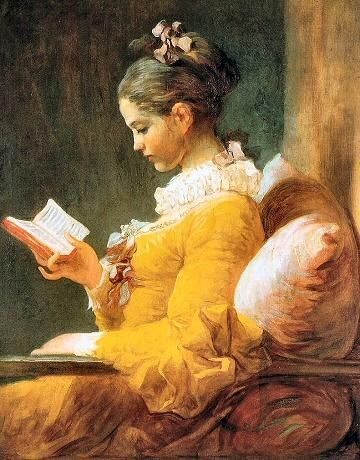 """La Liseuse"" ou ""La jeune fille lisant"" - Jean-Honoré Fragonard (env. 1770)"