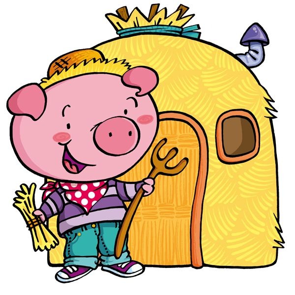 """Characters from """"The Three Little Pigs"""" story. Form Puzzles collection for 3-year-old children. Diset, 2015."""
