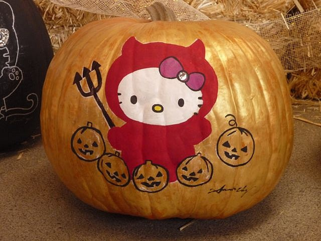 Best 20 Hello Kitty Pumpkin Ideas On Pinterest