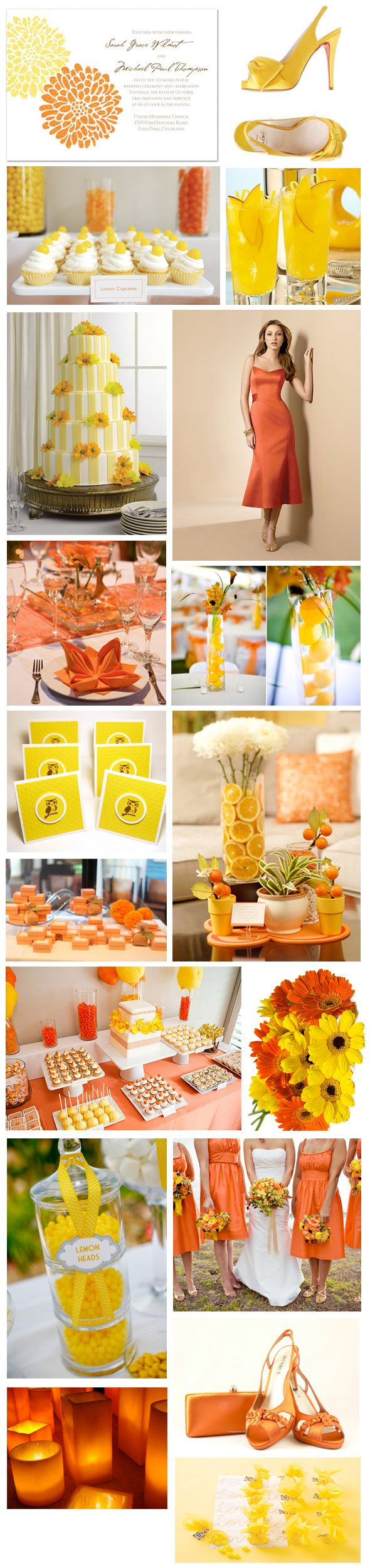 #OKLsummer -  bright-orange-and-yellow-summer-wedding-theme-colour-inspiration