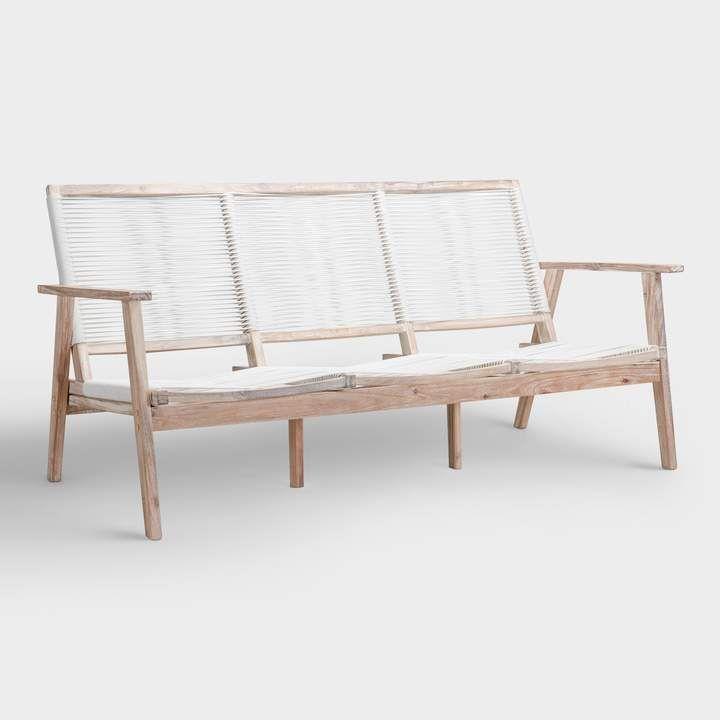 Cost Plus World Market White Wood Montigo Outdoor