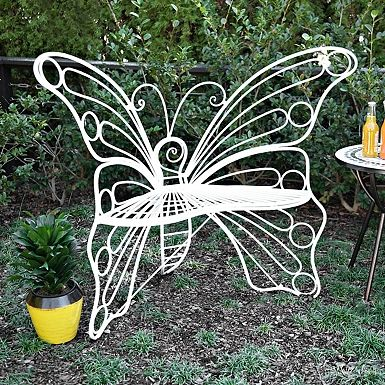White Butterfly Metal Chair