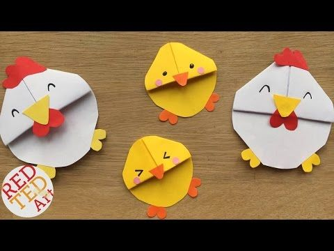 Easter Chick Bookmark Designs - Red Ted Art's Blog