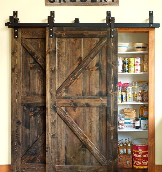 Best 25 barn door track system ideas on pinterest for Pantry barn door hardware
