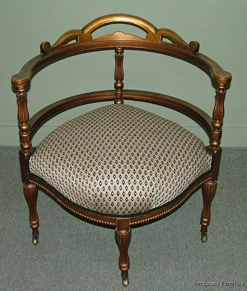 c1057 Antique Corner Chair Gold Gilt Newly by VintagewayFurniture, $295.00 - 88 Best Corner Chairs Images On Pinterest Salvaged Furniture