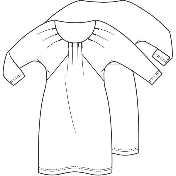 Maak deze jurk van een soepel tricot met inkjetdessin voor een schilderachtige look
