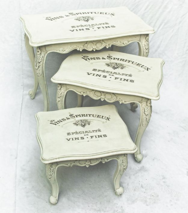 DIY Shabby Chic Decor Ideas – Vintage Shabby Chic Nest of Tables – French Farmho…