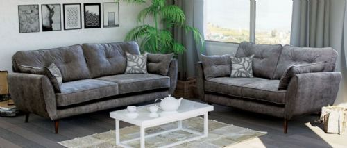 2 And 3 Seat Grey Fabric Set Sd081 Sofa Set Online Sofa Fabric Sofa