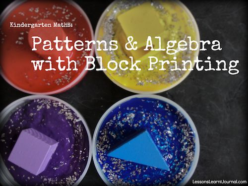 Children begin exploring number and pre-algebraic concepts by pattern making.