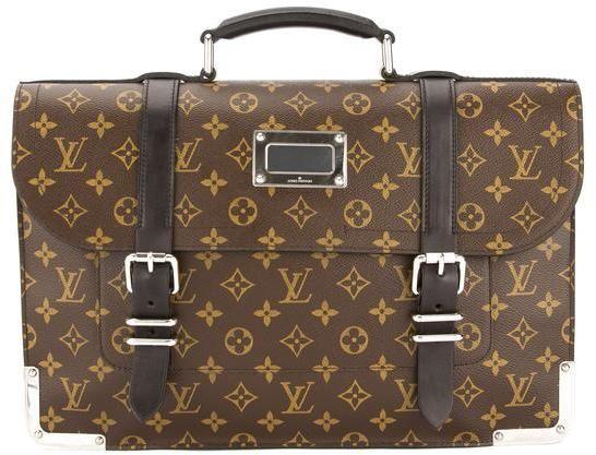 Louis Vuitton Monogram Macassar Canvas Rally Briefcase (Pre Owned)