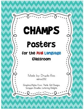 Spanish version!!!  This is great for my school!  you should pin this! CHAMPS Posters for Dual Language Classroom