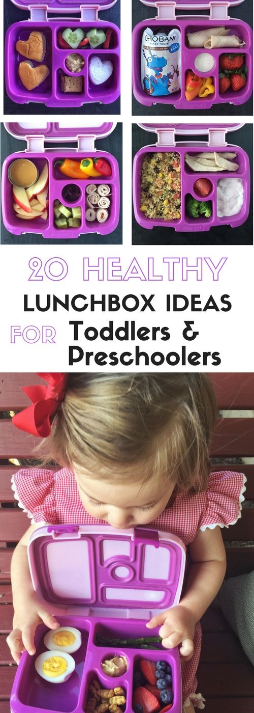 20 Healthy Lunchbox Ideas For Toddlers And Preschoolers via @https://www.pinterest.com/rmnutrition/