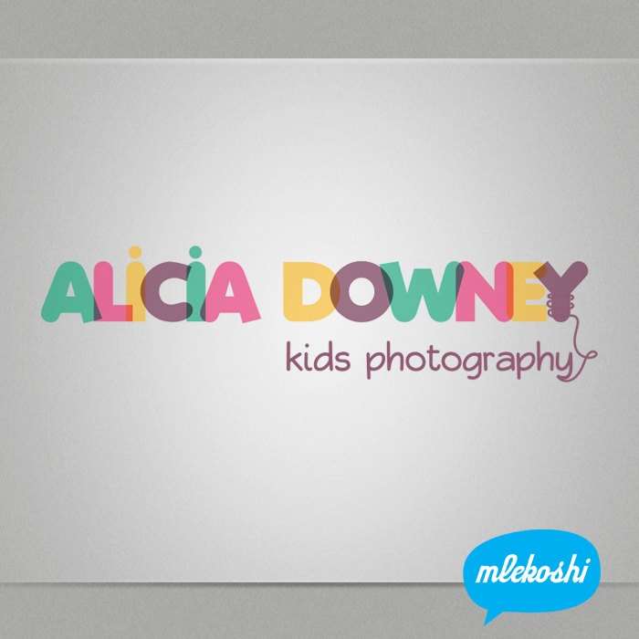 Premade Logo Custom Business Logo Design for Photographer, Boutique Logo Etsy Shop. Pre-made Kids Logo, Photography Branding, Watermark Logo. $34.00, via Etsy.
