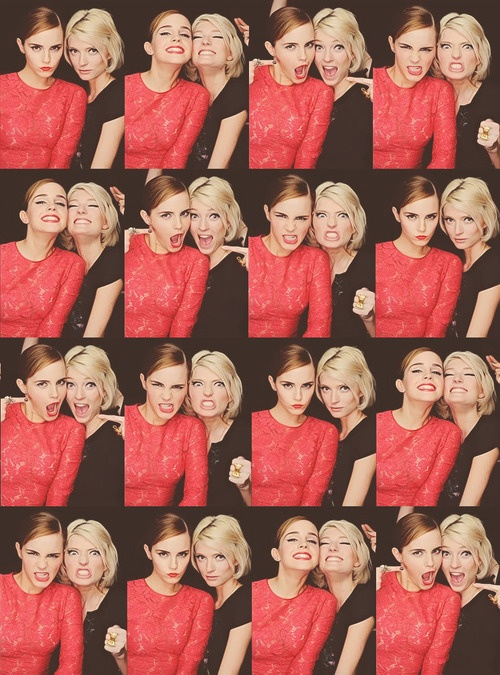 two of my favorite people - Emma Watson and Sophie Sumner