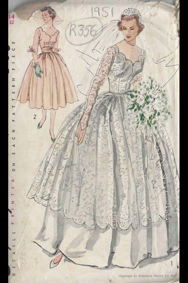 17 Best images about Vintage Bridal Gown Patterns on Pinterest ...