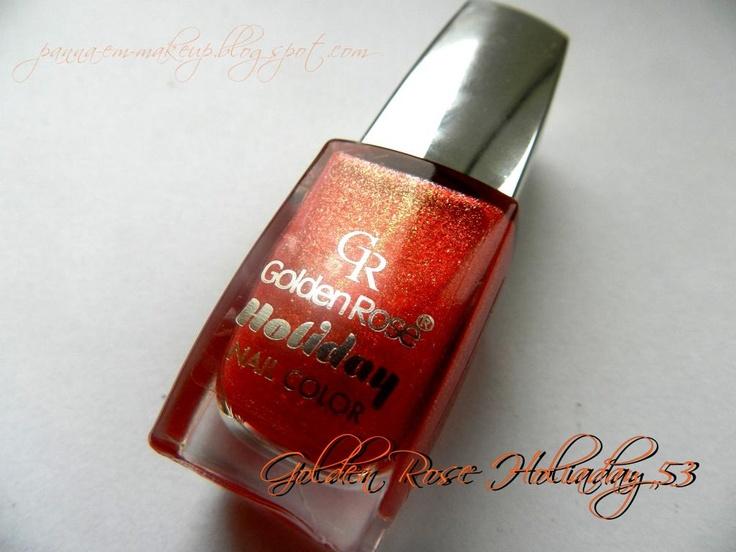 Golden Rose Holiday 53 #sand #nails