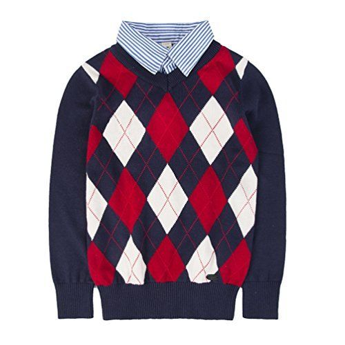 Benito & Benita Boys Pullover Sweater kid's V-Neck Argyle Long Sleeve School Uniform Sweater 4-12Y  Benito & Benita Boys Pullover Sweater kid's V-Neck Argyle Long Sleeve School Uniform Sweater 4-12Y-B0736Z87MX-18.99-18  Expires Nov 4 2017