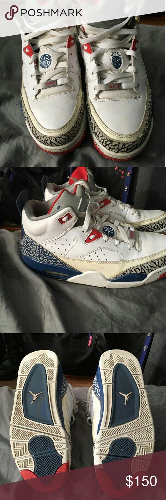Spike Lee Son of Mars Nike Jordans Size 8 mens Spike Lee Son of Mars Jordans nike Shoes Sneakers