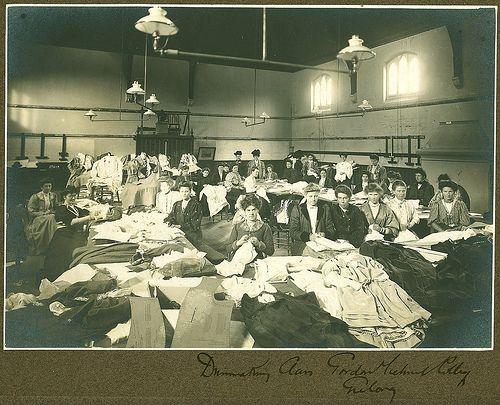 1900s Dressmaking class. Geelong, Australia