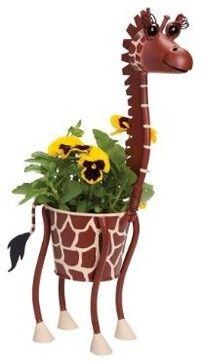 Mini Giraffe Animal Planter eclectic indoor pots and planters