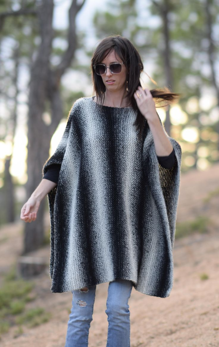 422 best knit accessory patterns images on pinterest projects aspen relaxed knit poncho pattern bankloansurffo Gallery