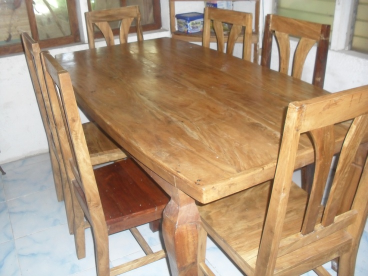 Ging S Six Seater Tugas Dining Table Set Cebu Furniture Pinterest Table
