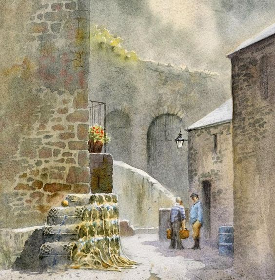 How To Paint Dry Stone Walls In Watercolour