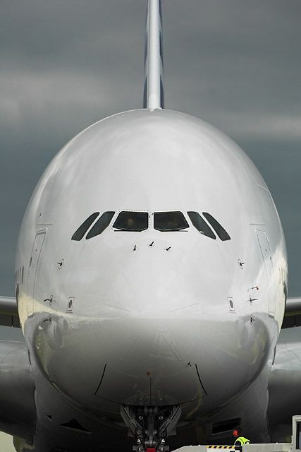 The Airbus A380 takes off on its inaugural passenger flight from Singapore to Sydney.