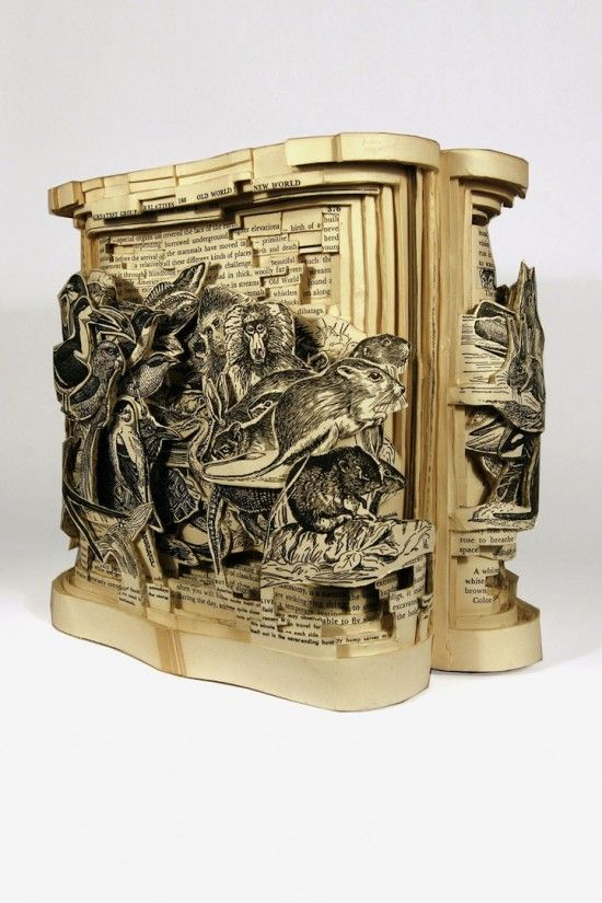 Cool sculptures made out of books