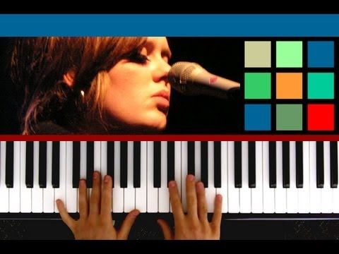 """How To Play """"Hometown Glory"""" Piano Tutorial (Adele) Easy piano tutorials on pop songs"""