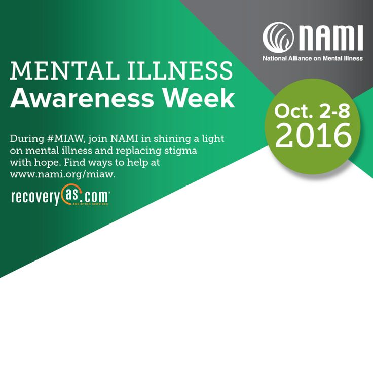 We are happy to take part in Mental Illness Awareness Week! Learn more: http://recoveryas.com/substance-abuse-effects-body/ Call for help: 888.679.4330 #MIAW #MentalHealth #StigmaFree