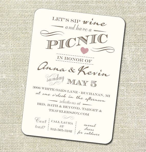 A great invitation and party idea to celebrate a 3rd or 5th year anniversary party with friends and fam