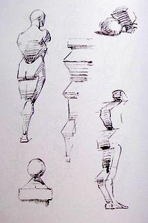 figure drawing, life drawing, human proportions