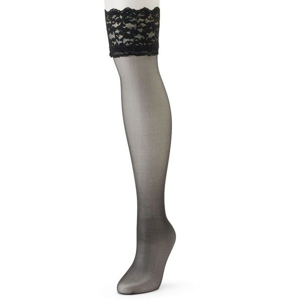 Berkshire Sheer Silky Lace-Top Thigh High Panty Hose ($9) ❤ liked on. Thigh  High Compression StockingsCompression ... - Best 25+ Thigh High Compression Stockings Ideas On Pinterest