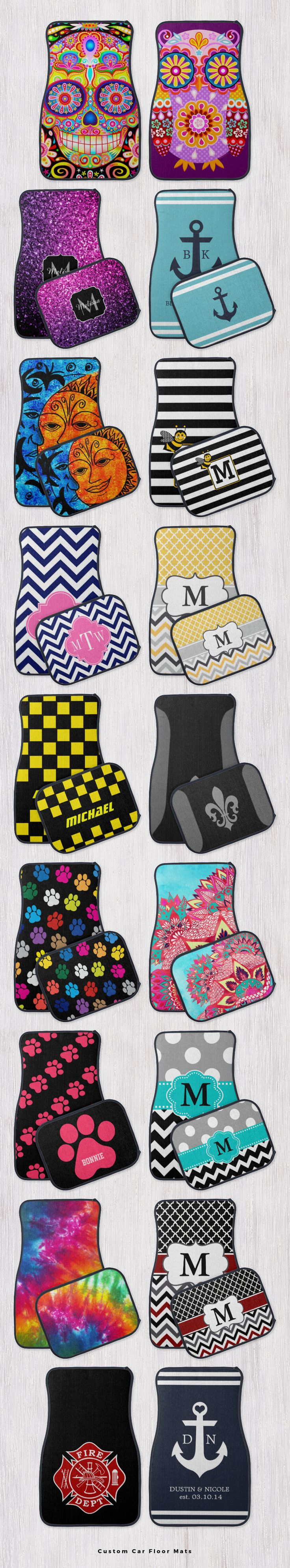 Design your own custom car floor mats with your initials, monogram, name or any…