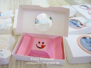 Stempelfix: Mini Pizzakarton für fröhliche Gesichter inkl. Anleitung