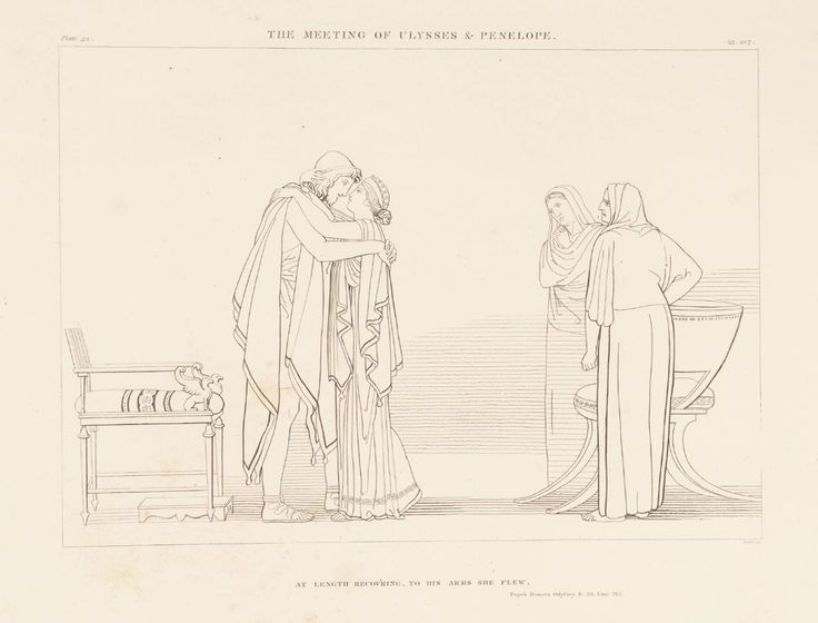 After John Flaxman The Meeting of Ulysses and Penelope 1805