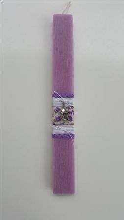 Handmade easter candle with cord and metalic  cage
