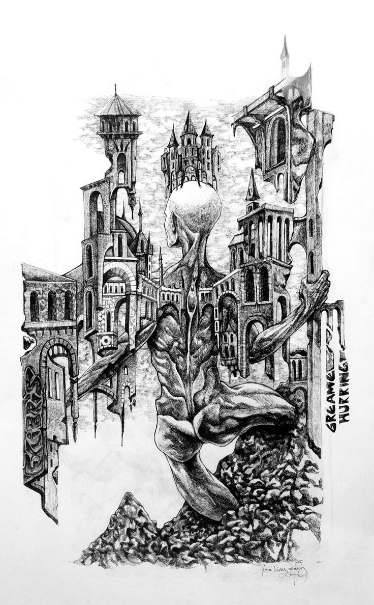 Title: King of the mountain  (Rey de la montaña) 35x50 cm ink on paper