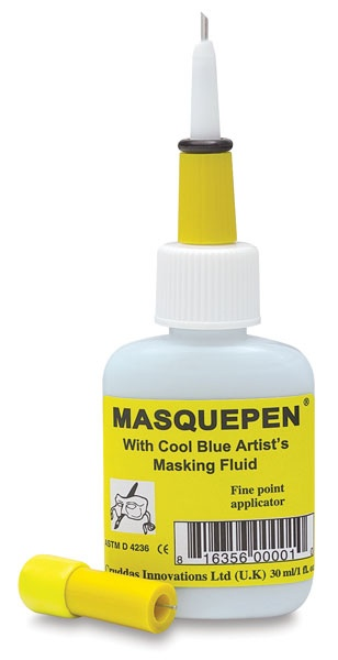 Masquepen - Draw, paint over, peel of = perfect white lines