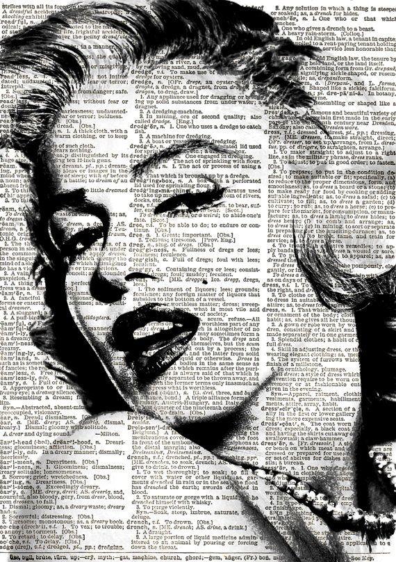 Marilyn Monroe Print Vintage Dictionary Art by VintageElleStudio, £5.50 http://www.pinterest.com/elenainfinito/printables/: