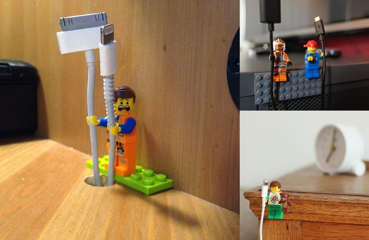 Use your LEGO figs as cable holder #fun