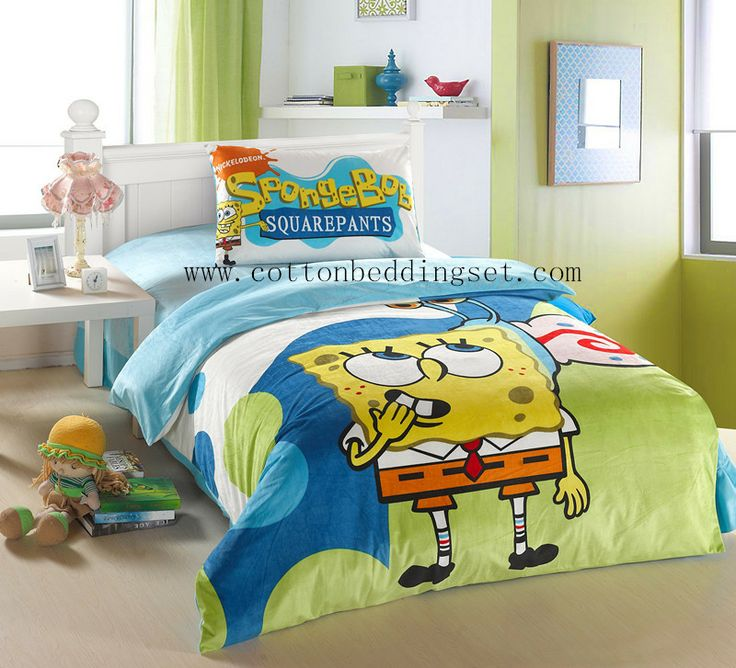 spongebob dovet cover quilt cover single double kids bedding sets with twin size,full size or queen size.