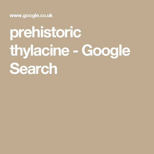 prehistoric thylacine - Google Search