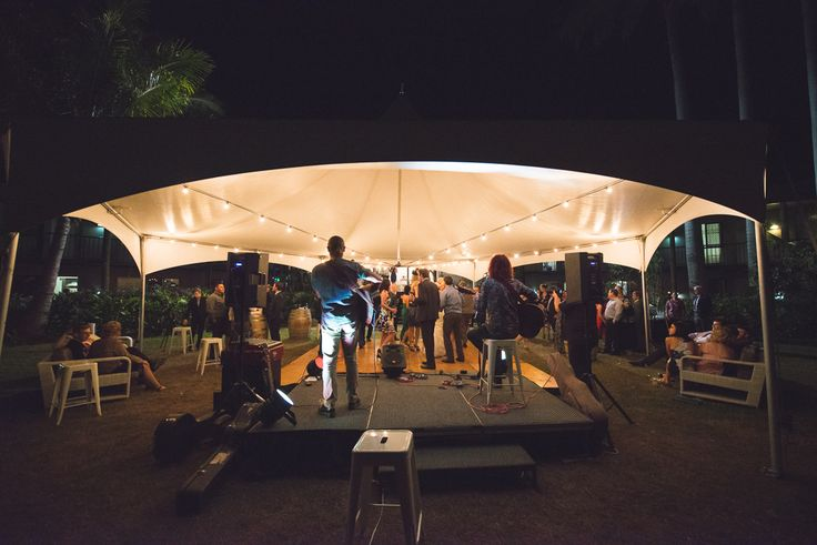 Mercure Townsville - Outdoor Wedding - Lakeside Lawn - Marquee - Tropical - Outdoor - Wedding - Dancing - Band - Live Music