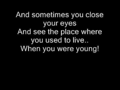 Te la dedico, Angustias:   The Killers - When You Were Young