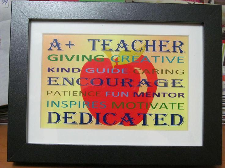 Teacher Appreciation framed Word Art