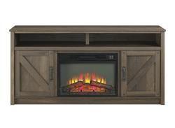 "$240 Menards Whalen® 60"" Farmstead Electric Fireplace Entertainment Center in Laminate Aged Oak"