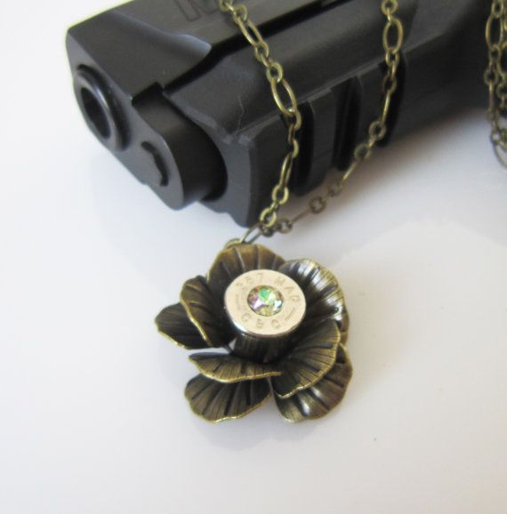 Bullet Jewelry 357 Magnum Rose Necklace, very very cool