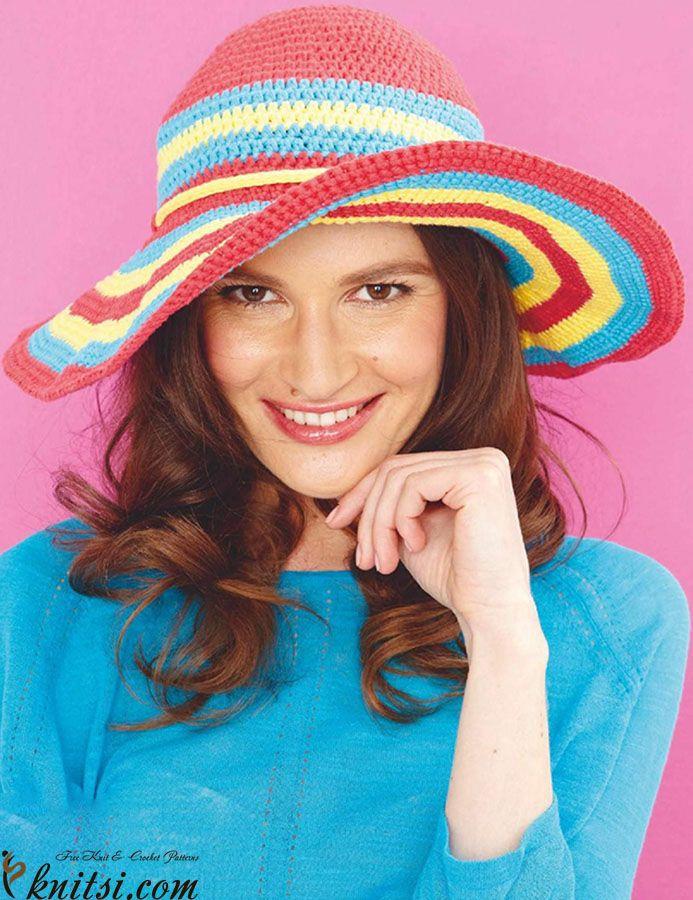 Mejores 765 imágenes de Crochet - Hat en Pinterest | Sombreros de ...